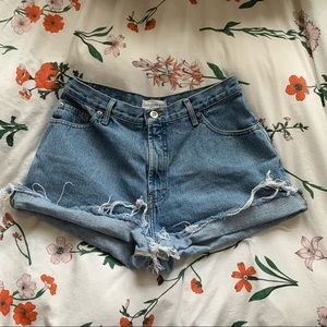 Distressed Mom shorts